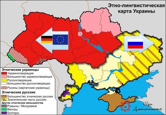 Этно-лингвистическая карта Украины
